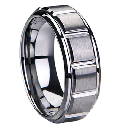 High quality latest design tungsten men's ring