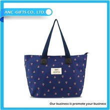 Durable canvas printing beach hand bag for young people hot sale beach bag2015