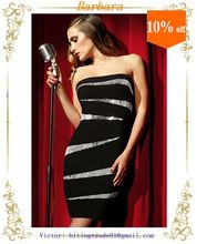 Top quality celebrity knee length bandage dress wholesale new design 2014
