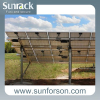 solar panel pile mounting support structure/bracket/racking system