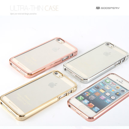 Original Goospery Mercury Ring TPU Case For iPhone 5S/SE , For iPhone 5S/SE Chrome TPU Mercury Case