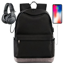 2018 Men water resistant travelling business smart USB backpack laptop bag with charger