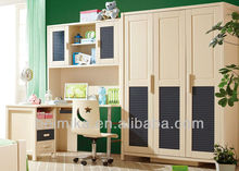 Korea Style Children Bedroom Furniture Childs Writing Desk and Cabinet