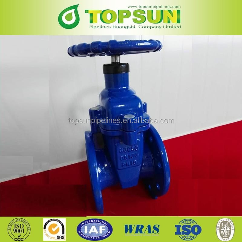 High quality Ductile Cast iron Double Flanged Gate Valve PN16 DN100mm