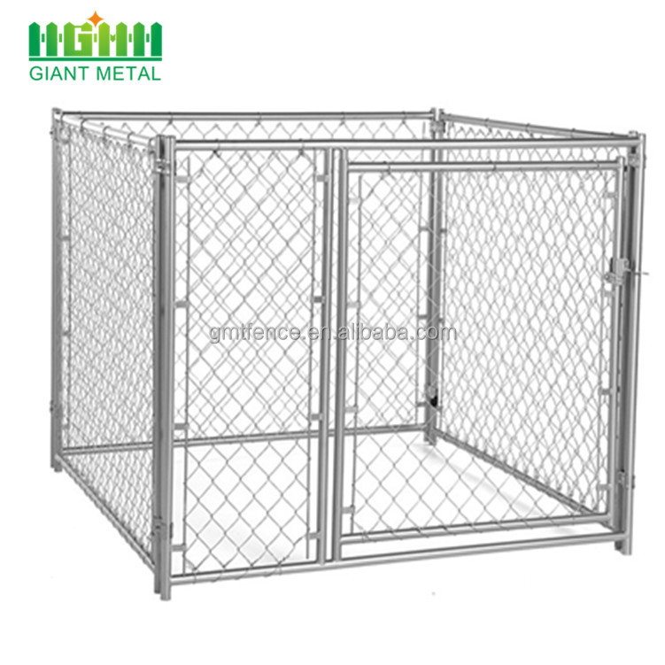 Factory price large outdoor galvanized chain link fence kennel dog cage