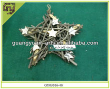 natural rattan crafts star shape outdoor Christmas decors