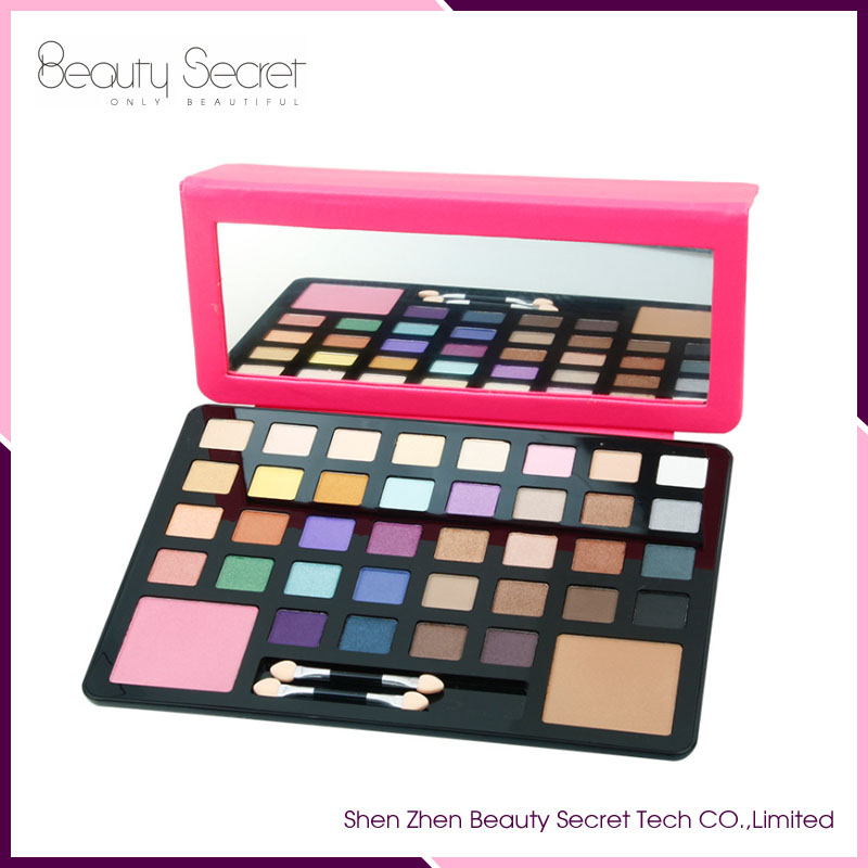 2017 wholesale private label makeup 38 color organic eyeshadow palette