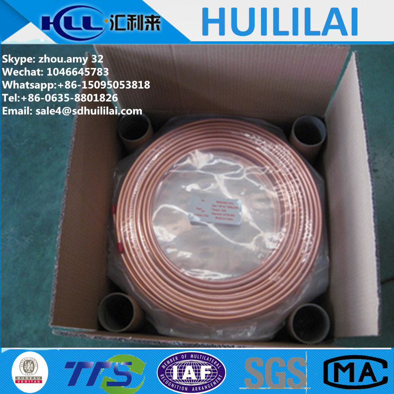 6.35mm medical gas copper pipeline oxygen tube for hospital