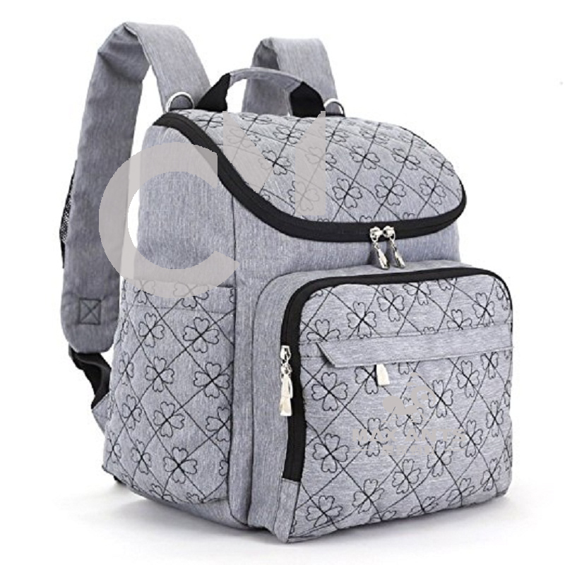 2017 grey mens multifunction diaper bag backpack mummy baby bag backpack with stroller straps