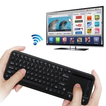 Convenient USB Wireless Keyboard Touchpad Air Fly Mouse for Mini PC Android TV Box(Black)