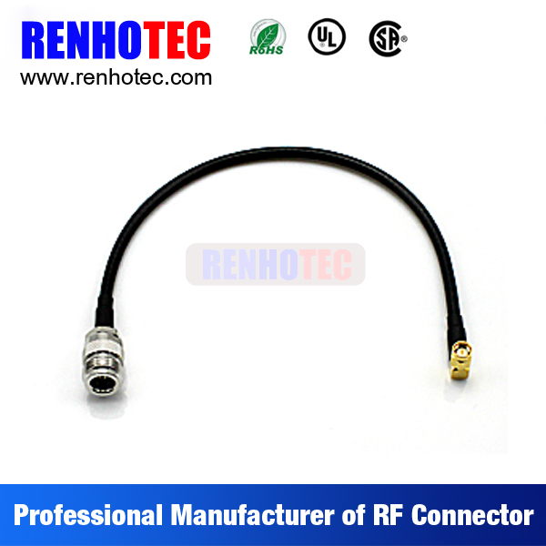 TNC female to 90 degree SMA male electrical coaxial wire connectors