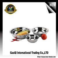 Stainless Steel Soup Bowl/Deep Soup Plate/Mixing Bowl