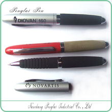mini metal soft grip EVA pen, custom logo on pen holder
