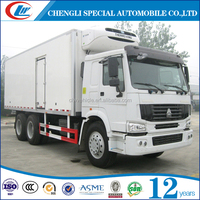 HOWO 6x4 Freeze Delivery Truck 40CBM Chill Car Truck 25T Reefer Refrigeration Truck
