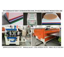 PP hollow profile sheet making machine / Plastic waterproof protection board production line