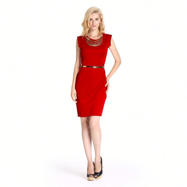 Good Prices Best Quality Formal 2014 Red Tube Sex Women Party Dress Made In China