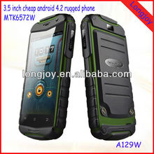 3.5inch Rugged Mobile Phone MTK6572W Dual Core 3G Smart Phone Android 4.2