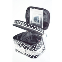 3 layer Multi -Functional Large Travel Cosmetic Bag With Mirror