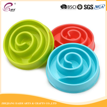 Candy color non-slip anti-choke slow feed dog bowl