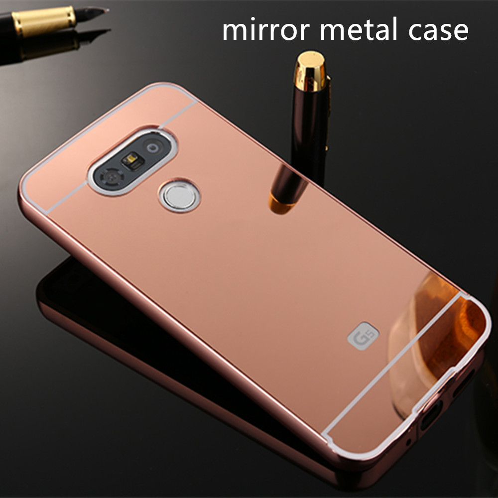 New Premium Electroplated Mirror Metal Bumper Acrylic PC Case Cover For LG G5
