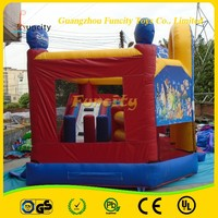 2016 USA standard Customized Kids 0.55m PVC Tarpaulin inflatable jumping castle bouncy castle for sale