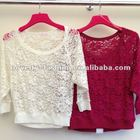 Ladies fashion brush lace tops