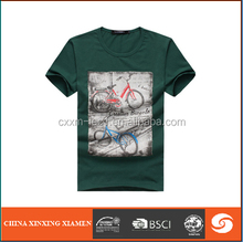 men t-shirt with print on chest round neck cotton fabric 180 gsm