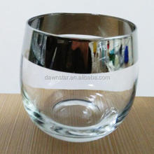 Perfect For Entertaining At Home Or Office Whiskey Drinking Sliver - Rimmed Rock Glass