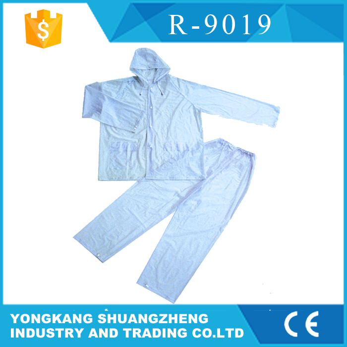 0.20mm 100% clear plastic rain suit