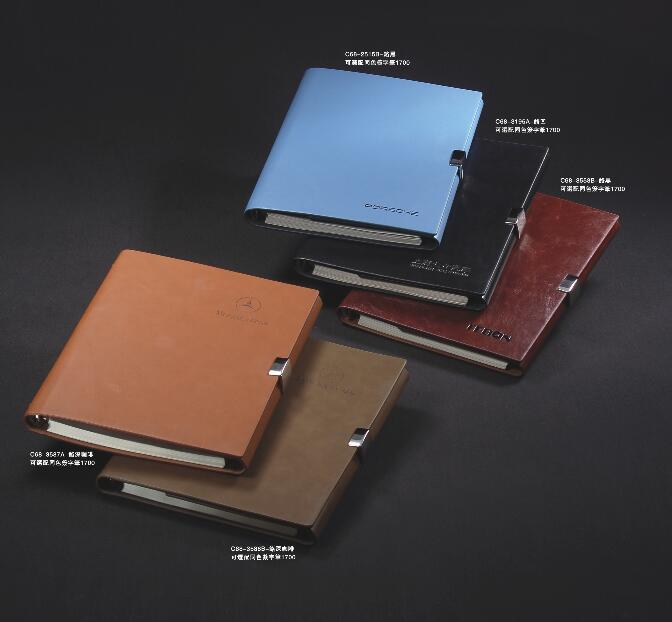 Soft leather material mini pocket notebook best cooperate business leather gifts with embossing logo printing