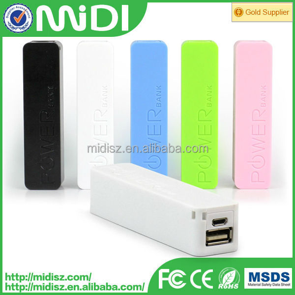 2016 Cheap Christmas Colorful cheap mini power charger universal lipstick mobile power bank 2600mah with logo