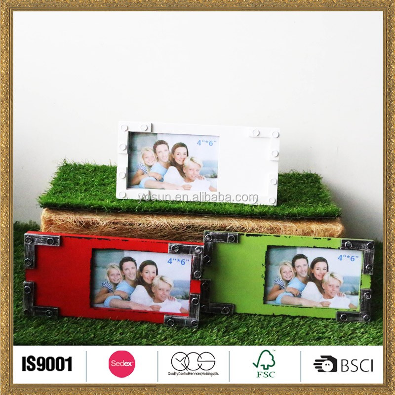 handwork wood photo frame picture in colors