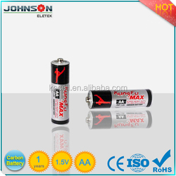 AA battery um-3 R6 non-rechargeable 1.5v heavy duty dry cell battery