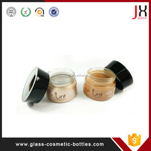Eco Friendly Cosmetic Container/30ml 50ml Cosmetic Cream/Lotion/Serum liquid Glass Dropper Bottle Container with Lid