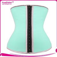 Fast delivery 9steel bone light blue latex waist slim trainer