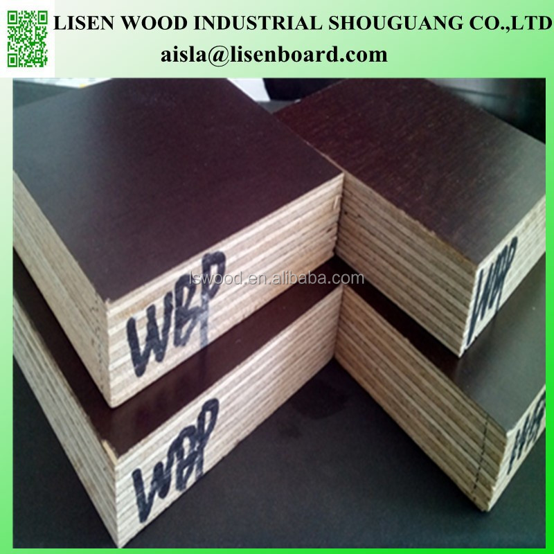 18mm Exterior grade film coated birch plywood formwork panel