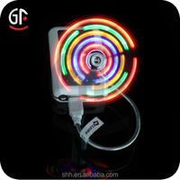 2015 China Whloesale Free Sample Mini Colorful USB Flashing Fan