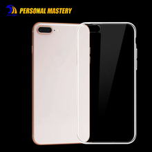 Clear mobile phone transparent silicone TPU case for iphone 8 cell phone case