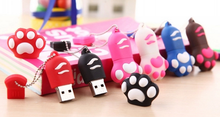 Cute cat claw shape micro usb flash drive for customized promotional gift bulk cheap