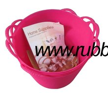 small plastic bucket,flexible PE garden water barrel/tub,round plastic bath tub