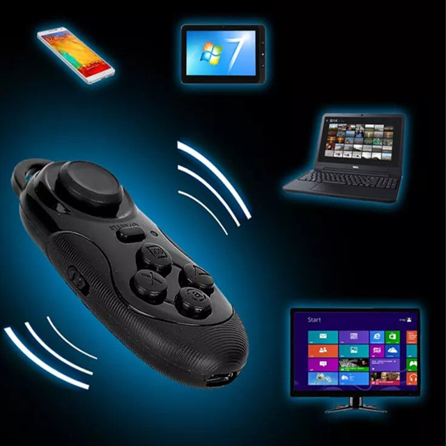 2018 Mini Multifunction Portable Wireless mini joystick gamepad VR remote control and VR box mobile game controller