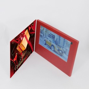 China high quality Wholesales 5 inch 3x video playing wedding invitation card greeting card video brochure