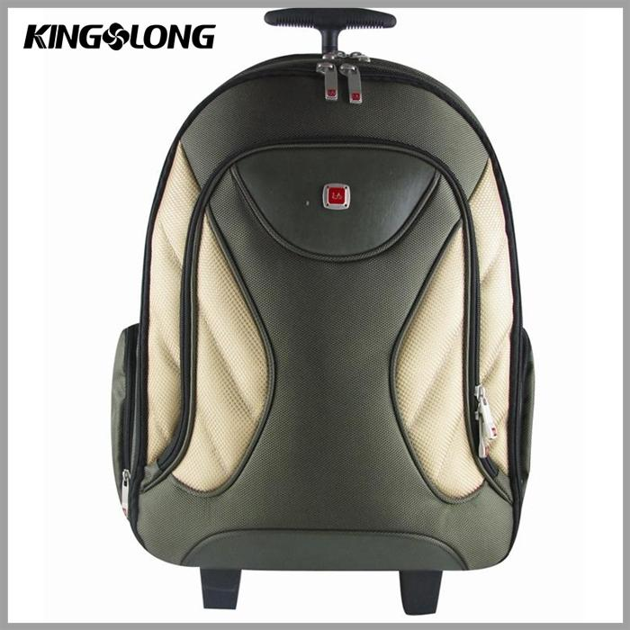 2 wheels parts folding trolley fancy soft luggage laptop bag for mens