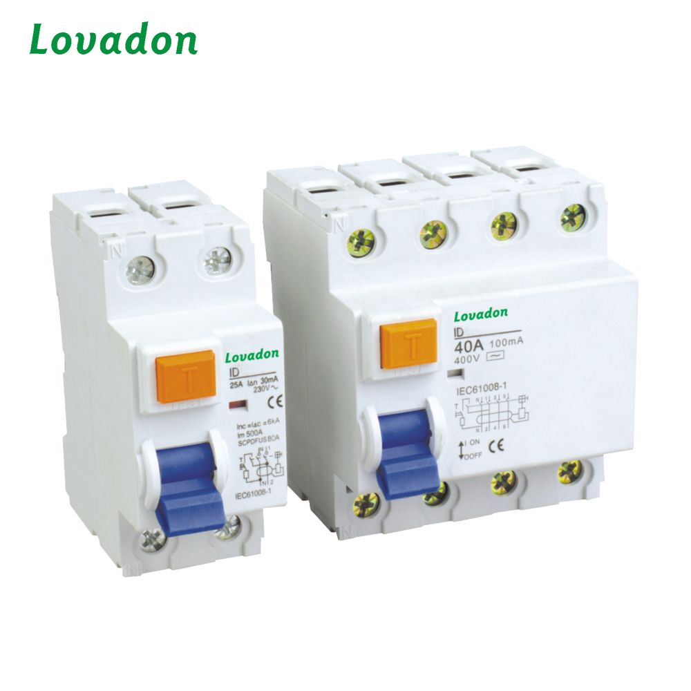 Free Sample Protection Device RCCB 2P RCD Residual Current Circuit Interrupter