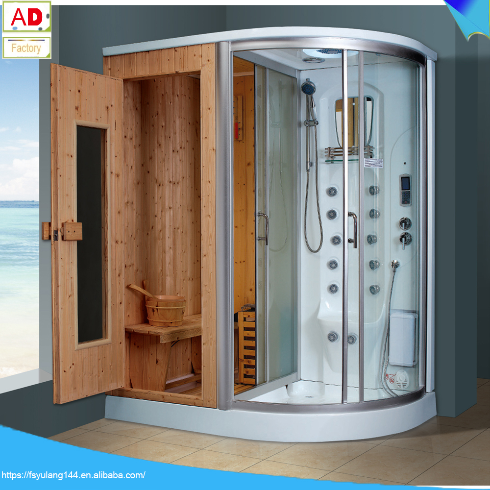 AD-8855 Sauna and Steam Combined Room Dry Wet Steam Shower Room with Sauna Enclosed