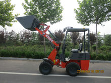 Qingdao Everun Machinery 0.8Ton Articulated Mini Wheel Loader With Snow Bucket For Sale