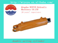 small double acting welded hydraulic cylinder for trailer and truck