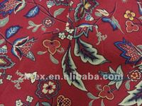 100% cotton canvas flower printed fabric,dress,garment,trousers,bag