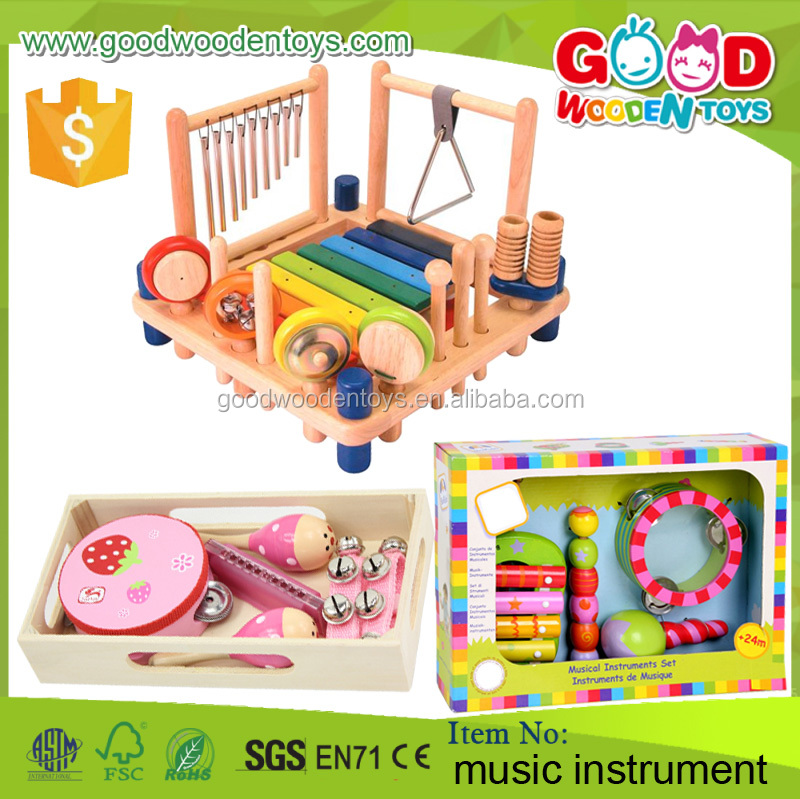 2016 New Design Kids Musical Toy Set Educational Wooden Toys Music Instrument for Children