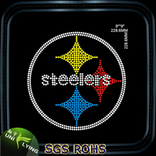 Steelers sports team hot fix motif rhinestone transfers